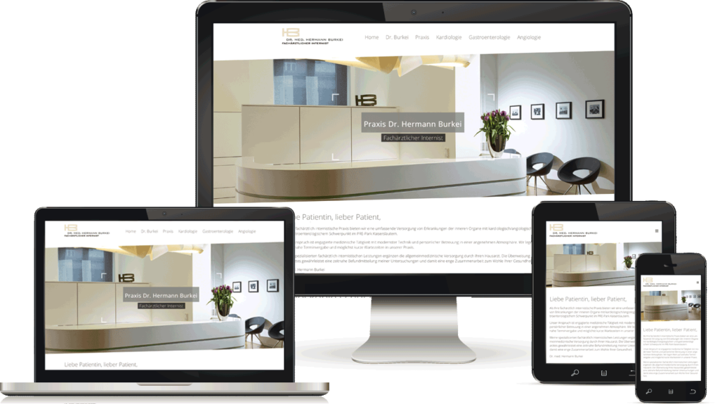 Webdesign für Arztpraxis, BAQUE-Internetservice