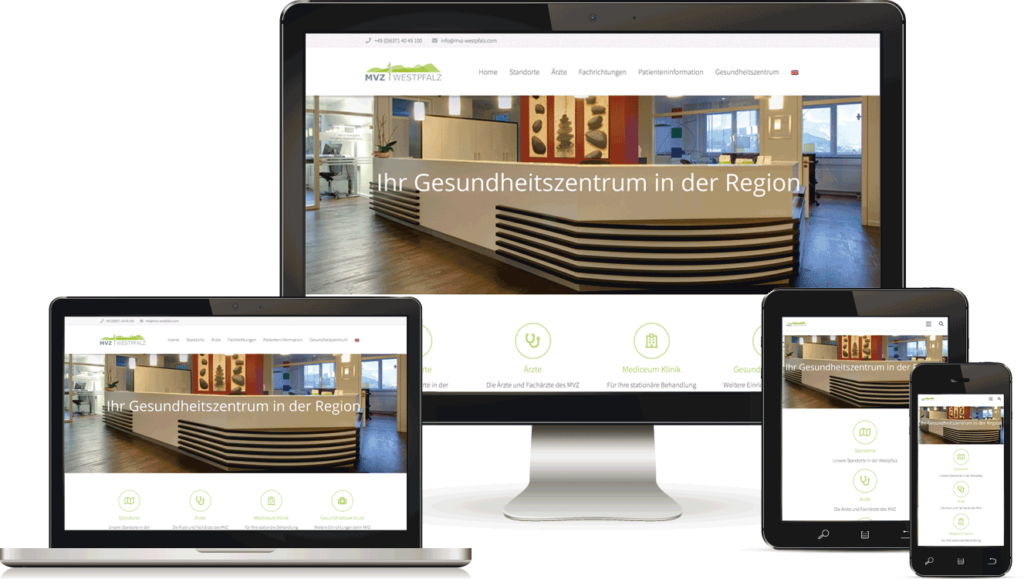 Webdesign für Ärztezentrum, BAQUE-Internetservice