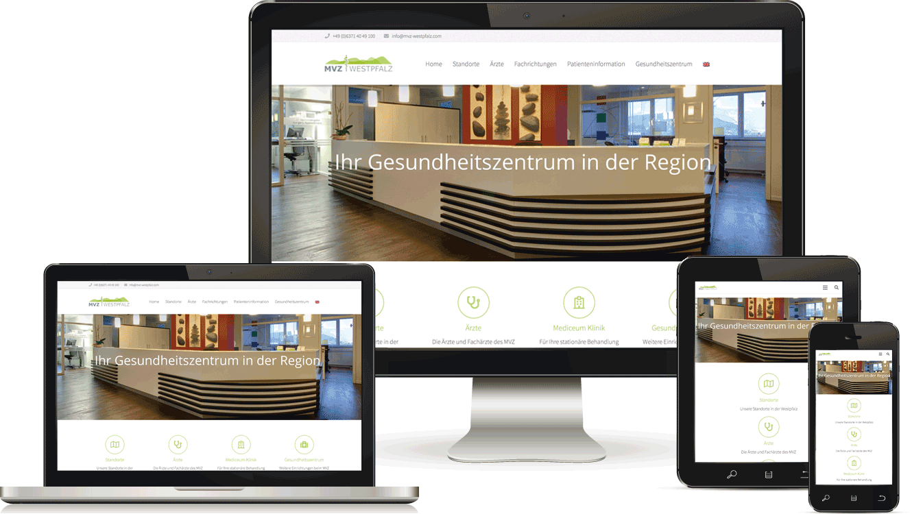 Webdesign für Ärztezentrum, BAQUE-Internetservice