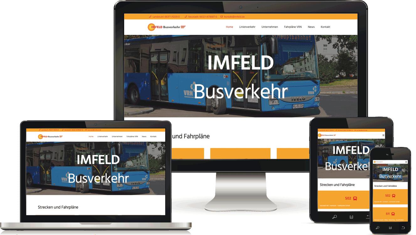 Imfeld Busverkehr Webseite im Responsive Design von BAQUE-Internetservice